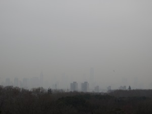 View of Nanjing Through Polluted Skies