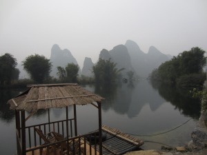 View from Hotel in Yangshuo