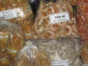 Dried shrimp, dried bamboo (Hanoi)