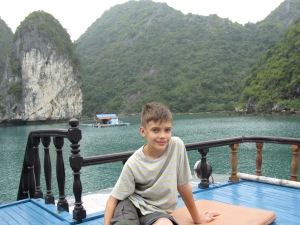 Aboard ship Ha Long Bay