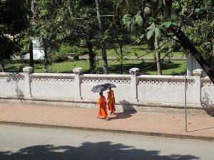 Strolling Monks