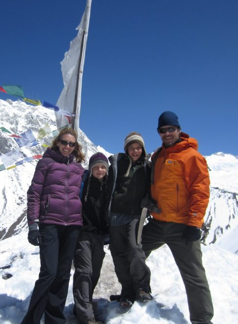 Amy, Braxton, Henry and Coalter, Langtang, Nepal, March 2013