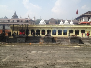 The cremation ghats of Pashupatinath on the Bagmati River, Kathmandu, Nepal