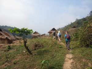 Hiking through the next village, day 3