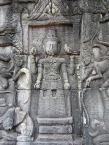 Vishnu in bas relief, Angkor Wat