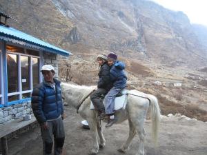 A horseback ride with Dawa Lama, Langtang Gompa