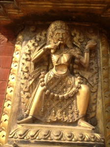 Durga, a fearsome manifestation of Shiva's consort Parvati, Golden Gate of the Royal Palace, Bhaktapur