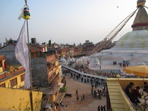 Late afternoon at the Bodhnath Stupa, Boudha