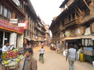 Typical street scene, Bhaktapur