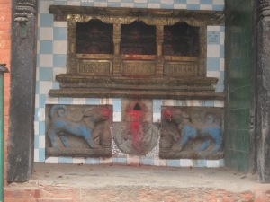 Temple of the dog (Shvan), Bhairab's vehicle or vahana, Bhaktapur