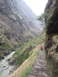 Following the Budhi Gandaki on ancient footpaths, Manaslu Circuit