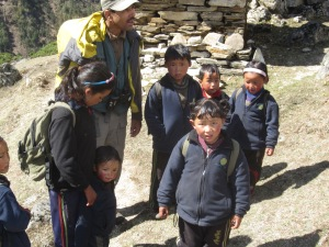 On the way to school, Upper Tsum Valley