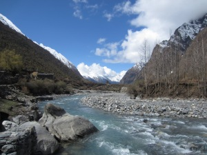 A river runs through it, upper reaches of the Siyar Khola