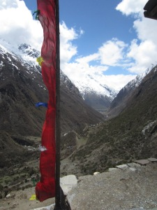 The view down valley from Mu Gompa