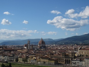 Florence on a blue sky day from Piazzale Michelangelo
