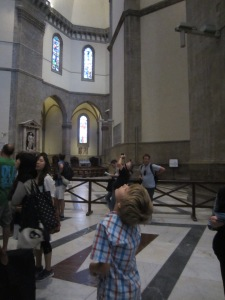 Braxton trying to understand what the Last Judgment has in store for him, The Duomo, Florence
