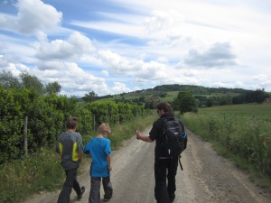 On the via Francigena to Viterbo, Italy
