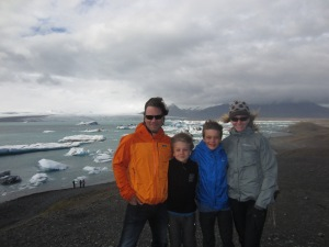 Family shot at Glacier Lagoon, Iceland