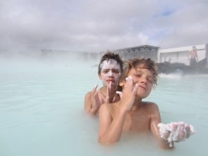 Beauty treatment, Blue Lagoon, Iceland